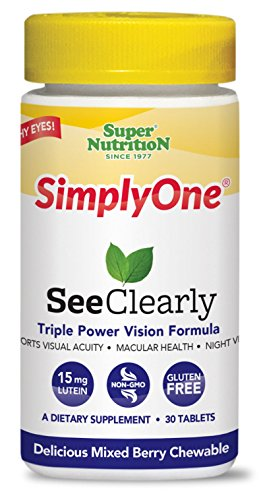 SuperNutrition SimplyOne See Clearly, Vision Booster, Eye Health Chewable Vitamin, 30 Count For Sale