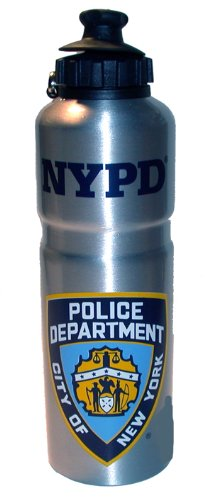 NYPD Water Bottle Metal Aluminum Officially Licensed by The New York City Police Department