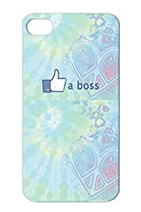 TPU Navy For Iphone 4s Like A Boss Skreened.png Satire Facebook Funny Protective Hard Case