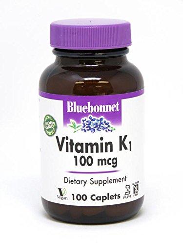 BlueBonnet Vitamin K1 Caplets, 100 Count