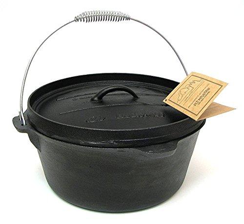 - Cast Iron 8 Quart Camp Oven