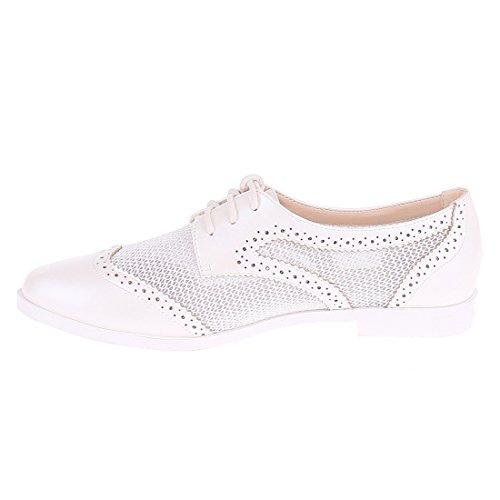 CATISA-bal4_wh765-Bailarinas para mujer Blanco - blanco