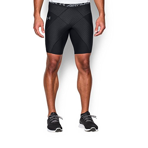 Under Armour Men's Coreshort Pro, Black (001)/Steel, Large