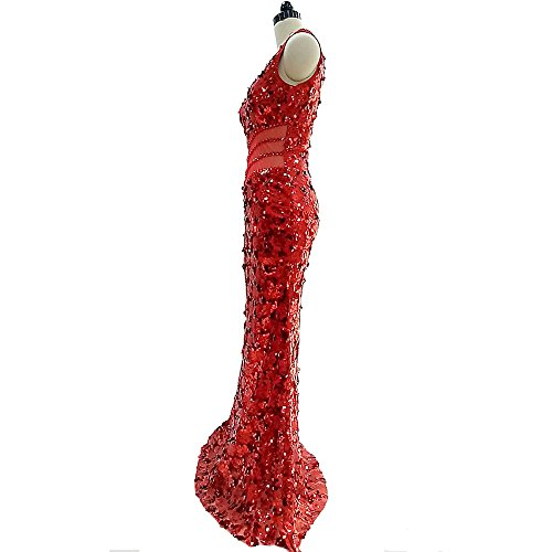 Donne Senza Red Dress Per Con Scollo Spalline Meeting Abito Inverno Autunno A Primavera Halter Dress Fishtail Slim Sera V 2018 S Host Paillettes Fashion Le Annual Estate Da Lunghe qp7qwX