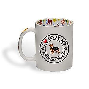Ceramic Christmas Coffee Mug I Love My Australian Terrier Dog Style A Funny Tea Cup 14