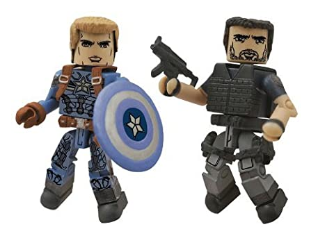 Diamond Select Toys Marvel Minimates Series 55 Captain America The Winter Soldier Stealth Uniform Captain America & Crossbones Action Figure (Marvel Minimate Black Widow)