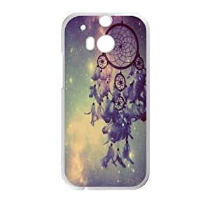 Colorful Cloud Feather Dream Catcher Pattern Hard Case Htc One M8 Shell Case Cover (Laser Technology)