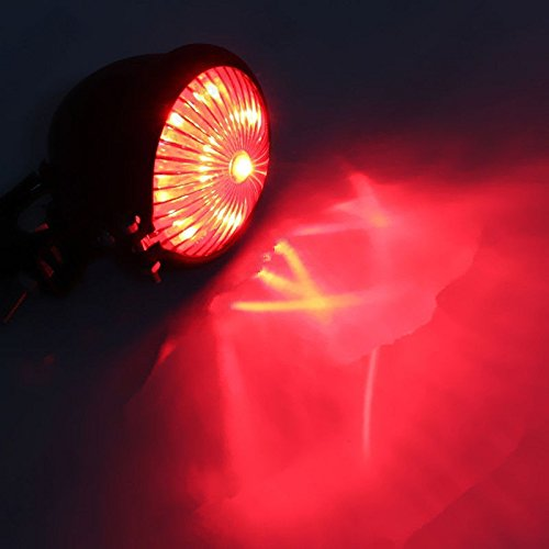Chrom Mini Bates Style Chrom LED Stop und R/ücklicht Motorrad Touring Cruiser Chopper Bobber Old School