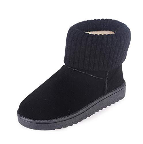 en Laine Noir Huateng Femmes pour Chaussures R5xxwpq1