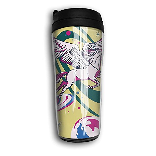 Universe Unicorn Vacuum Insulated Leak Fashionable Portable Travel Coffee Mug For Home Office School Ice Drink Hot Beverage Cup 8Oz Coffee Cup Travel Mug Travel Cup With Curve