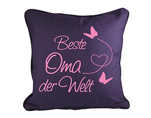 Dekokissen Beste Oma der Welt B x H: 40cm x 40cm Farbe: bordeaux (erhältlich in 6 Farben)