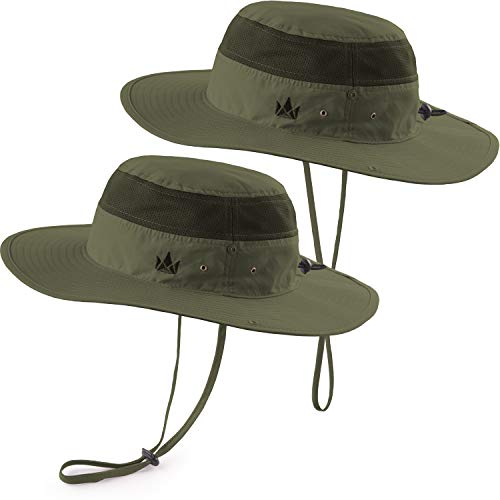 (The Friendly Swede Sun Hats 2-Pack - Safari Hat for Men Women and Children, Boonie Hat, Camping Hat, Fishing Hat, Summer Hat, Gardening Hat)