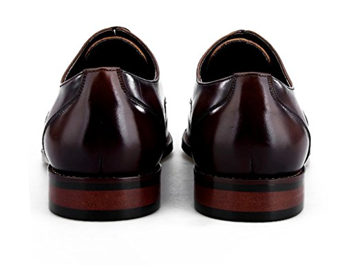 Herren Lederschuhe Herren Lederschuhe britischen Stil formelle Kleidung Business kleinen quadratischen Kopf Herrenschuhe ( Farbe : Kaffee - farbe , größe : EU44/UK8.5 ) Kaffee - Farbe