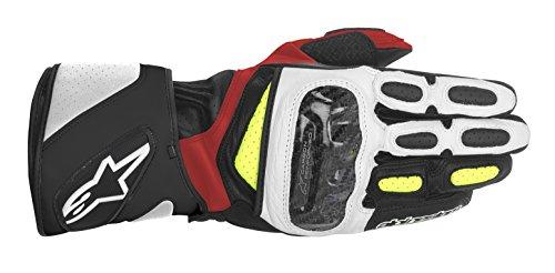 Alpinestars SP-2 Men's Street Motorcycle Gloves - Black/White/Yellow/Red / 2X-Large