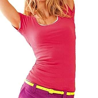 Short Sleeve Crewneck Tee T Shirt Cotton Top (Small, Cobalt)