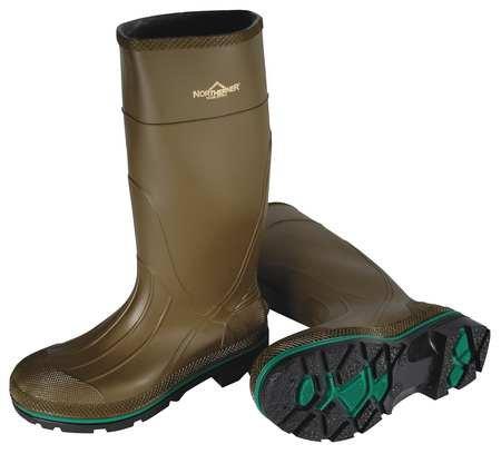 Knee Boots, Size 7, 15'' H, Olive, Plain, PR