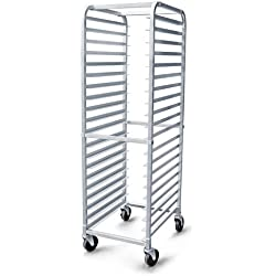 New Star 36527 Aluminum 20-Tier Commercial Kitchen Bun Pan Sheet Pan Rack, 26 by 20 by 69-Inch