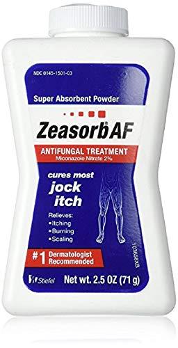 Zeasorb Antifungal Treatment Powder, Jock Itch - 2.5 oz, Pack of 6 by Zeasorb