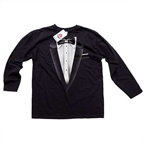 Smoking Neu-schwarz-schwarz s Men'T-Shirt Long Sleeve Top Qualität Fancy Dress