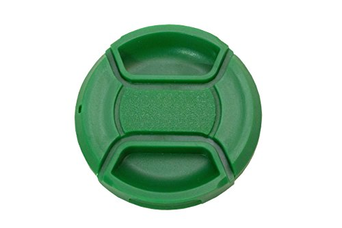 Koala Cam - Premium Green Color Pinch Lens Cap Cover for DSLR Cameras for Sony, Nikon, Canon, etc Bundle with Cleaning Cloth - Explained Specs Lens