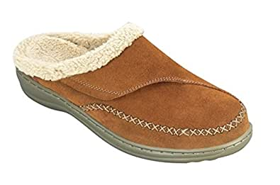 Orthofeet Comfortable Arch Support Orthopedic Leather Charlotte Women's Slippers