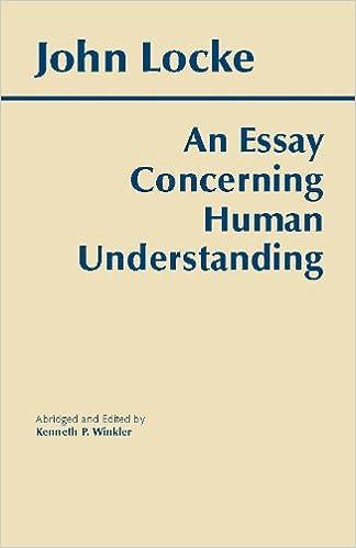 Essay concerning human understanding hackett classics kindle