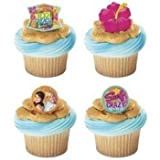 Deco 12 Teen Beach Movie Summer Fun Plastic Cupcake Rings Party Favors Cake Toppers