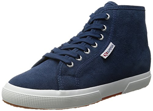 Superga 2095 Sueu, Baskets hautes mixte adulte J41 Blue Night Shadow