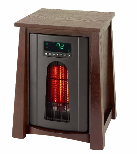 - Lifesmart Products LS8WQHDLX13B Infrared Heater, 1500-watt, Dark Oak