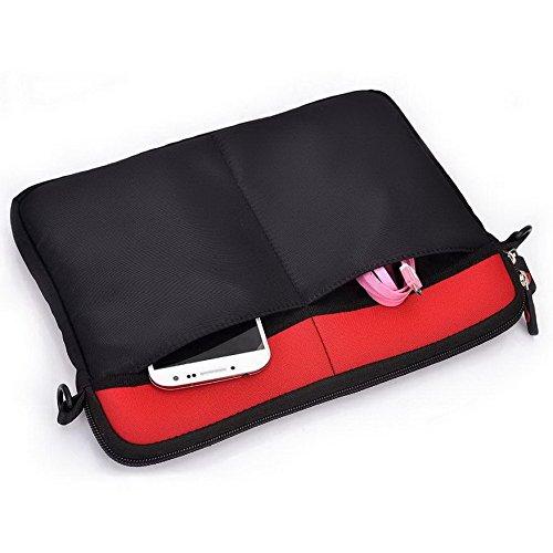 Kroo Tablet Sleeve mit abnehmbarem Tragegurt Neopren Schutzhülle für Acer Predator 8 rot rot rot