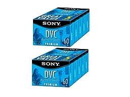 Sony DVM60PR10KB 60-Minute Premium DVC/MiniDV Tapes - 10 Pack