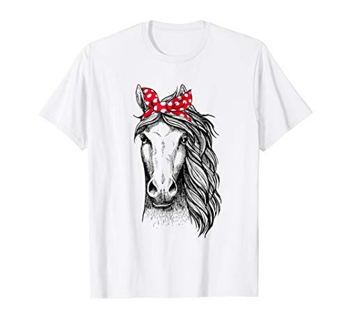 (Horse Bandana T Shirt for Horseback Riding Horse Lover)