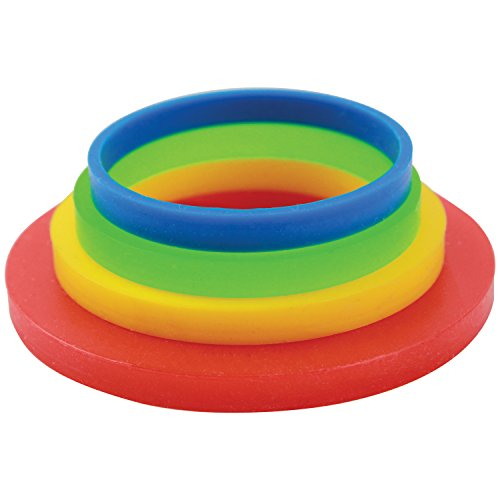 PME PPR01 Large Rolling Pin Guide Rings-Set of 4, Standard, Multicolor