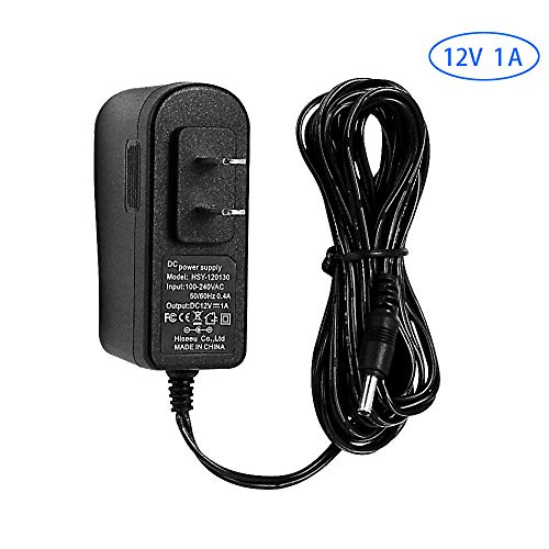 AC 100-240V to DC 12V 1A 1000mA 12W Power Supply 5.52.1mm FCC 10 Feet Cable Power Supply (12V-1000mA) Power Adapter for Security Cameras