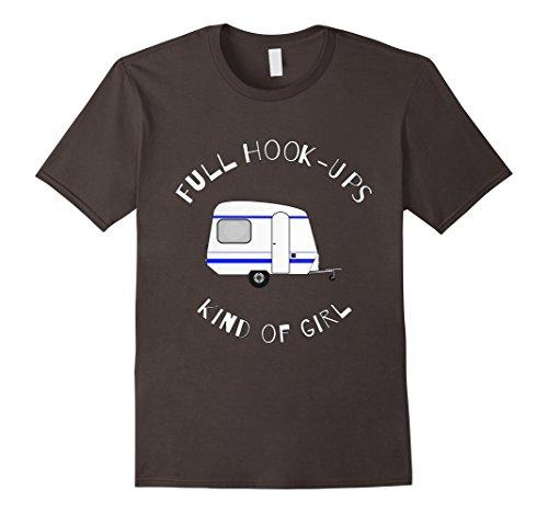 Mens Novelty Camper Trailer Humor Full Hook Ups Kind Of Girl Tee Large Asphalt Hook Ups Shirts