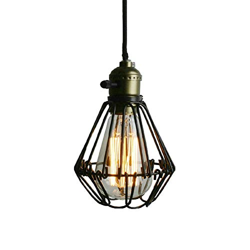 EUJEID Retro Industry Chandelier, Modern Metal Pendant Light Adjustable Semi-Embedded Ceiling Light for Restaurant Bedroom Living Room, Black