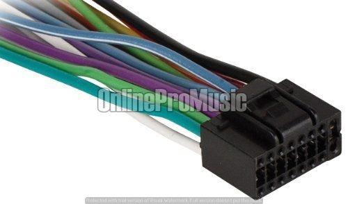 16 Pin Universal Wiring Harness (Absolute jvc16-jv2x8 JVC 16 PIN Universal)