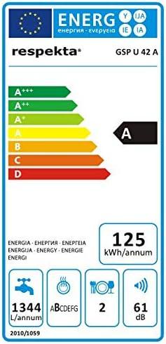 respekta GSPU 42 A Mini Einbaugeschirrsp/üler 42 cm LED Display