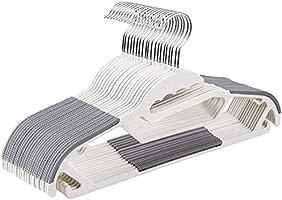 [Amazonブランド] Umi(ウミ) 衣類ハンガー すべらない 頑丈 薄く、滑り止めプラスチックのハンガー、特殊加工 スリムなマジックハンガー 頑丈 クローゼットハンガー