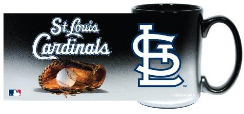 St. Louis Cardinals Jumbo 15oz Black & Chrome Glove Mug ()