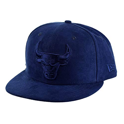 - New Era Spring Suede Chicago Bulls 9Fifty Snapback Cap Hat Navy 80671561 (Size OS)