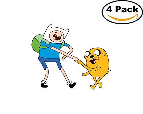 - Adventure Time 4 Stickers 4x4 Inches Cartoon Car Bumper Window Sticker Decal 4