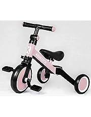 دراجة ثلاثية العجلات للأطفال 3 في 1 من Kiwicool للأطفال بعمر 1.5-4 سنوات دراجة ثلاثية العجلات للأولاد والبنات 3 عجلات (وردي)، سكاي تاتش