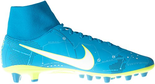Nike Mercurial Vctry 6 DF Njr Agpro, Chaussures de Football Homme, Turquoise (Blue Orbit/White/Blue Orbit/Armory Navy/Volt/Volt), 44.5 EU