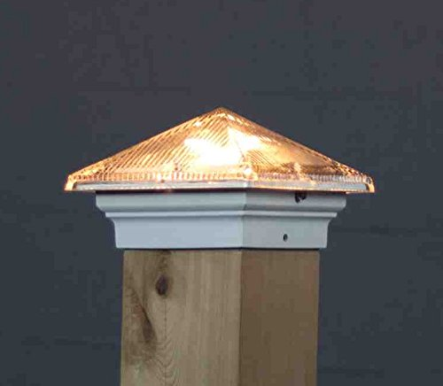 (Aurora Glass Roof Pyramid 12V Deck Light, 3-1/2