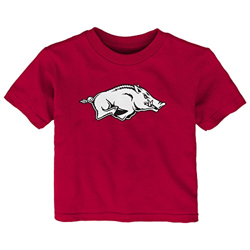 Razorbacks Infant Primary Logo Short Sleeve Tee, 18 Months, Dark Red ()