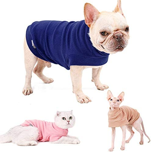 Small Dogs Fleece Dog Sweatshirt - Cold Weather Hoodies Spring Soft Vest Thickening Warm Cat Sweater Puppy Clothes Sweater Winter Sweatshirt Pet Pajamas for Small Dog Cat Puppy 25