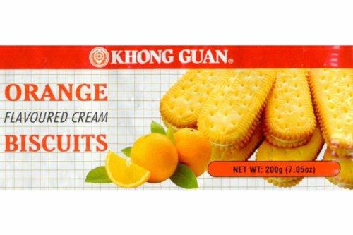 Khong Guan Biscuits (Orange Cream) (Pack of 1)