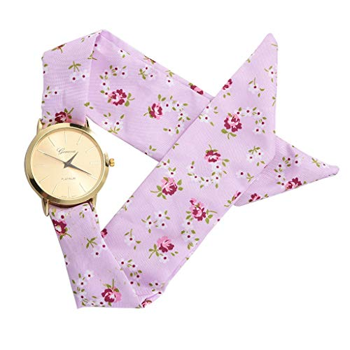 Sodoop Women's Dress Watch,Fashion Breathable Flower Cloth Design Watch,Summer Sweet Girl Bracelet Quartz Watches