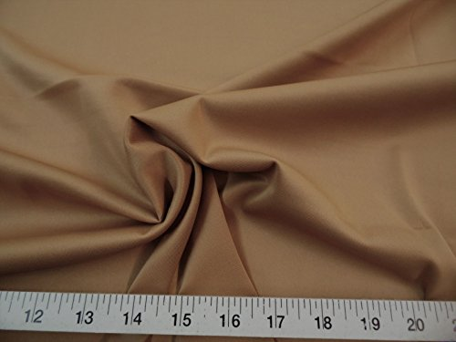 Fabric Techno Scuba Polyester Spandex 4 Way Stretch Camel ()